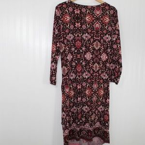 Max Edition Dresses - Max Edition Red and Black Floral Print Dress